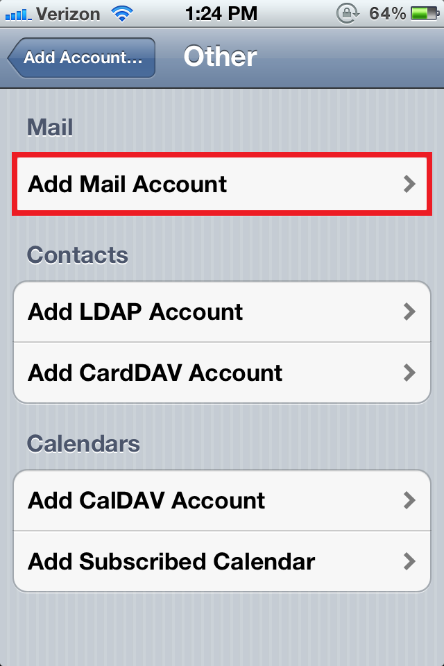 ios mail config