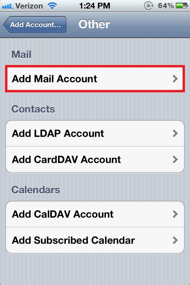 ios mail config